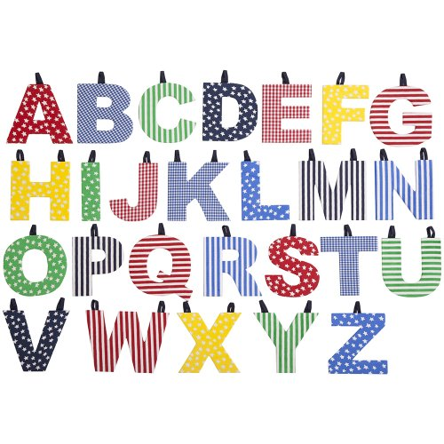JoJo Maman Bebe Fabric Letters, Primary W - 1
