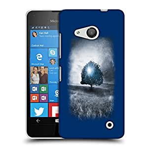 Snoogg Blue Tree Designer Protective Back Case Cover For LUMIA 550