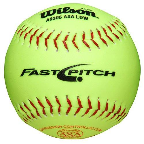 Мяч для софтбола Wilson Asa 47 Cor Girls Fast Pitch Synthetic Softballs A9106b 1 Dozen