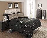 Fabulous-Imagination-Bettwsche-Set-Bettbezug-Kissenbezge-Betten-Baumwoll-Mischgewebe-3-Gren-3-Farben-Baumwollmischung-schwarz-Doppelbett