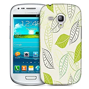 Snoogg Lite Leaves Printed Protective Phone Back Case Cover For Samsung S3 Mini / S III Mini