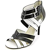 MICHAEL Michael Kors Women s Cammie Open Toe Sandal Black/Optic White 5.5 B(M) US