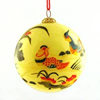 Ornament, Mandarin Ducks with Lotus - CO159