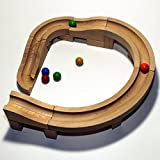 El mármol de la pista de la bola corre JUEGOS de madera de las curvas los 27cm de la pista NUEVOS