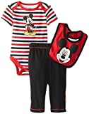 Disney Mickey Mouse Bodysuit Bib and Pant Set for Baby Boys