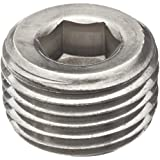 """Merit Brass Stainless Steel 316 Pipe Fitting, Hex Countersunk Plug, Class 1000, 1/2"""" NPT Male"""