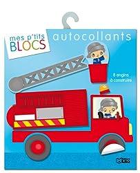 Mes p'tits blocs en autocollants : 8 engins a construire - Dès 4 ans