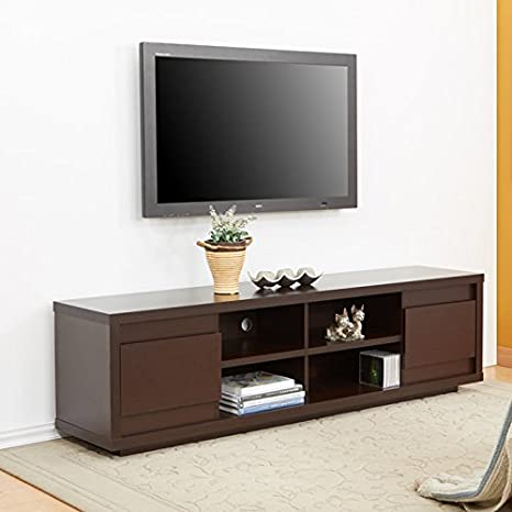 "Janzi Walnut 70"" Entertainment TV Console"