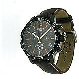 Tissot Quickster Chronograph Black Leather Men's watch #T095.417.36.057.00