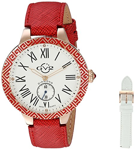 GV2-by-Gevril-Womens-9121-Astor-Enamel-Analog-Display-Quartz-Red-Watch