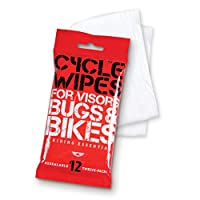 1-pack of Cycle Wipes (12 Wipes) - Simply Wipe, Buff, Ride! Pre-moistened Helmet and Visor Cleaner. Re-sealable, Safe, Non-abrasive, Cleaning and Bug Removal for Your Motorcycle Helmets Visor, Face Shield, Lights, and Bike. Our Motorcycle Wipes Are Also G