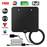 LeadTry ANT-Pro Indoor HD TV Antenna 1080P, 50+ Mile Reception Rang with Signal Booster, Home Digital Television OTA Receiver, Power House DTV Amplified Air Aerial for Free Internal Local Channels