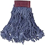 """Rubbermaid Commercial Products FGD25306BL00 Super Stich Blend Mop, Large, 5"""" Blue Headband (Pack of 6)"""