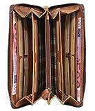 Hill Burry UNISEX XL Geldbörse / Organizer / Reisebrieftasche aus naturgegerbtem weichem Leder 2080