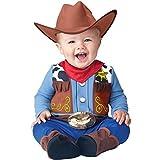 InCharacter Baby Boy's Wee Wrangler Cowboy Costume, Tan/Blue, Large (Color: Tan/Blue, Tamaño: Medium)