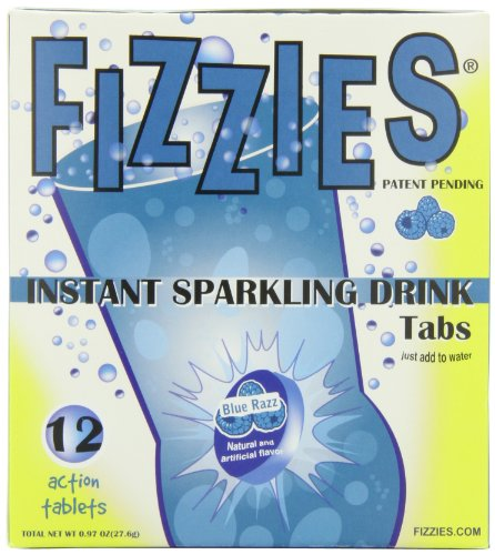 Fizzies Candy Drink Tablets, Blue Razz (Pack of 6)