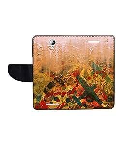 KolorEdge Printed Flip Cover For Lenovo A5000 -Multicolor (50KeMLogo10489LenovoA5000)