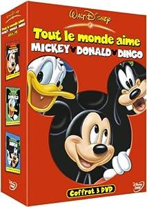 Coffret Disney 3 DVD : Tout le monde aime Mickey / Tout le monde aime Donald / Tout le monde aime Dingo