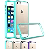 iPhone SE Case Cover, OEAGO iPhone SE Bumper [Scratch Resistant] [Ultra Hybrid Bumper Series] Shockproof Impact Resistance Case and Clear Hard Back Panel for Apple iPhone SE 4.0 inch - Mint