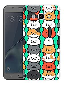 "Cute Cats Pattern Printed Designer Mobile Back Cover For ""Samsung Galaxy J5 2016 Edition"" (3D, Matte, Premium Quality Snap On Case)"