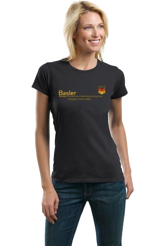 Basler Definition | Funny German Family Name Ladies' T-shirt lerro definition funny italian family name unisex t shirt