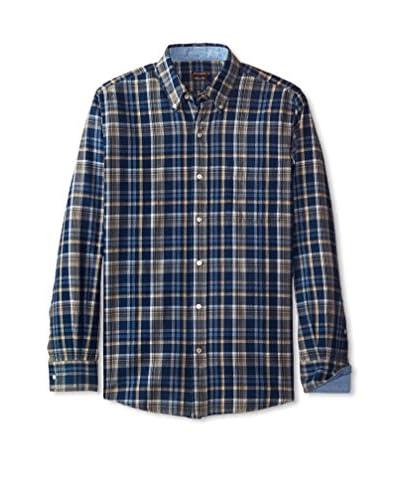 J. McLaughlin Men's Herringbone Westend Button Down Trim Fit Shirt
