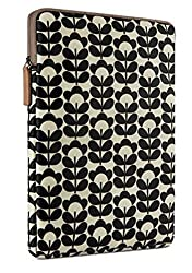 Orla Kiely for Belkin iPad Air Sleeve Sweetpea black and cream floral pattern