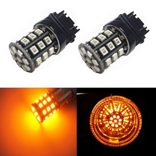 JDM ASTAR AX-2835 Chipsets 3056 3156 3157 4157 LED Bulbs for Turn Signal,Amber Yellow (2012 Mercedes E350 Owners Manual compare prices)