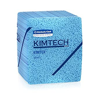 Kimtech Industrial Cleaning Wipes (33560), Disposable, Low Lint Quarterfold Wipes, 8 Packs / Case, 66 Sheets / Pack
