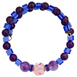 Swarovski Crystal and Amethyst Bracelet