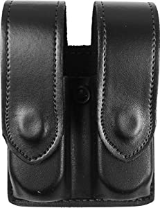 DeSantis Double Mag Pouch, Black, Hidden Snap - Long Double Stack 9mm/40cal - U41BJGGZ5