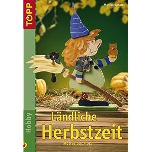 Ländliche Herbstzeit: Motive aus Holz.   Ländliche Holzfiguren für eine witzige und bunte Herbstz