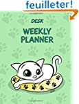 Desk Weekly Planner: No Dates - 7x9 i...