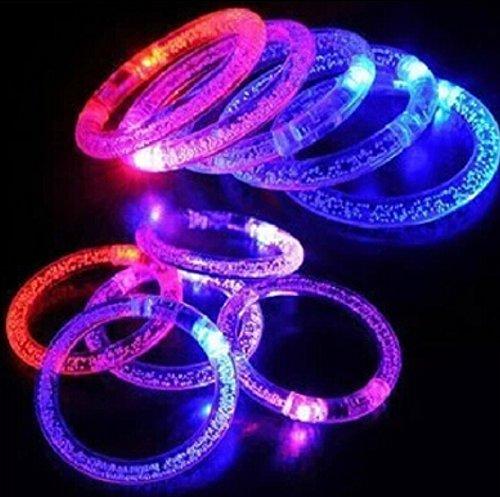 Liroyal Pack Of 12 Yakeli Glowing Bracelets