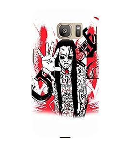 PrintVisa Music Rock star Rap 3D Hard Polycarbonate Designer Back Case Cover for Samsung Galaxy S7 Edge