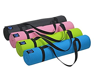 "Yoga Mat by Youphoria Yoga - 1/4"" Thick Eco Friendly Lightweight Comfortable High Density Memory Foam Mats - Improve Your Bikram, Ashtanga, and Hot Yoga - Bonus Carry Strap Included - Order Today!"