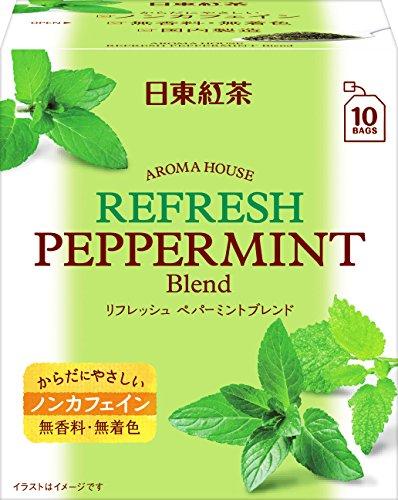 日東紅茶 アロマハウス リフレッシュペパーミント 10袋×6個