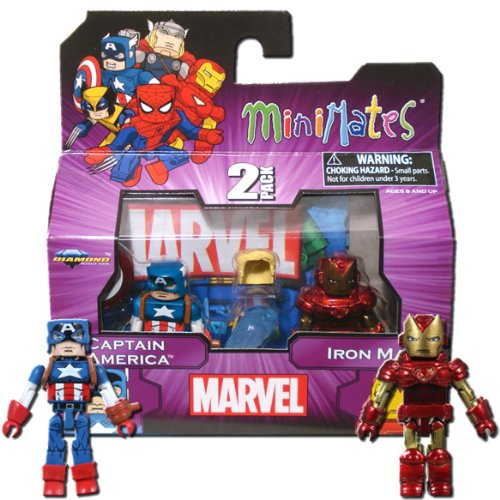 Marvel MiniMates Series 44 Mini Figure 2Pack Captain America Iron Man