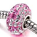 Pugster 925 Sterling Silber Rosa Swarovski Crystal Perlen Beads Passend für pandora element Charme Armband