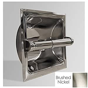 banner recessed toilet paper holder 2609 brushed nickel. Black Bedroom Furniture Sets. Home Design Ideas