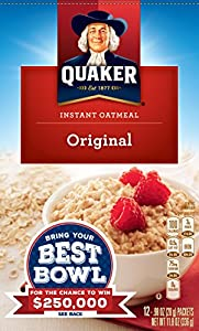 Quaker Instant Oatmeal, Original, 12 Count (Pack of 4)