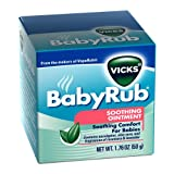 Vicks Babyrub Soothing Ointment 1.76 Oz,  50 g (Pack of 6)