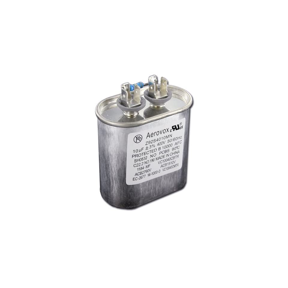Capacitor 10uf (mifo farad) 400v minimum oil filled oval