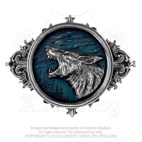Wulven King of the Wolves Pewter Belt Buckle