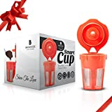 Brewooze Keurig Carafe Kcup - Reusable, Refillable K Cup - Carafe Keurig Coffee Filter Crafted for K500, K400, K300 and K200 Models
