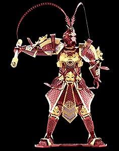 D-Mcark 3D Metal Models Art Metal Works 3D Laser Cut Models Puzzle Tool Kit Warrior's Armor Silver (Monkey king)
