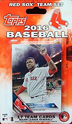 Boston Red Sox 2016 Topps Factory Sealed Limited Edition 17 Card Team Set with Dustin Pedroia David Ortiz Plus