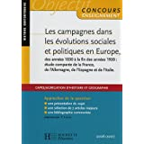 Les campagnes dans les évolutions sociales et politiques en Europe des années 1830 à la fin des années 1920 :...