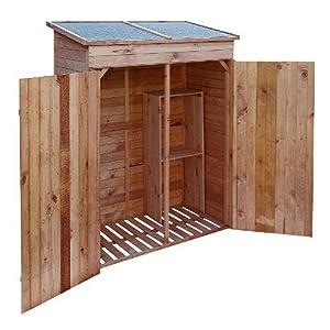 abris de jardin pour outils en bois massif coloris nature 62x140x75cm jardin. Black Bedroom Furniture Sets. Home Design Ideas