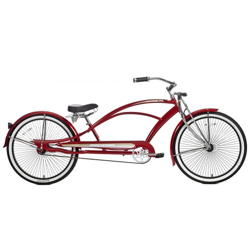 Micargi Mustang GTS Beach Cruiser Bike, Red, 26-Inch